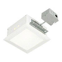 Progress Lighting Complete Square Housing & Trim 1 Light Recessed Set in White P6414-30TG