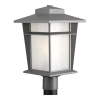 Loyal 1 Light 18 inch Textured Graphite Outdoor Post Lantern