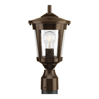 Progress Lighting East Haven 1 Light Post Lantern in Antique Bronze with Clear Seeded Glass P6425-20