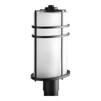 Format 1 Light 17 inch Black Outdoor Post Lantern