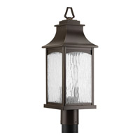 Progress Lighting Maison 2 Light Post Lantern in Oil Rubbed Bronze with Water Seeded Glass P6432-108