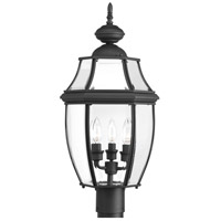New Haven 3 Light 23 inch Black Outdoor Post Lantern