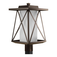 Progress Scope 1 Light Post Lantern in Antique Bronze P6434-20