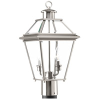 Burlington 2 Light 18 inch Brushed Nickel Outdoor Post Lantern