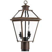 Burlington 2 Light 18 inch Antique Bronze Outdoor Post Lantern