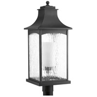 Maison 1 Light 26 inch Black Outdoor Post Lantern