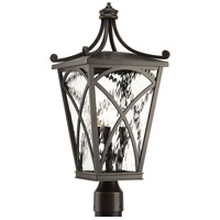 Cadence 3 Light 23 inch Oil Rubbed Bronze Outdoor Post Lantern