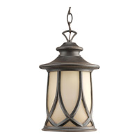Resort 1 Light 9 inch Aged Copper Outdoor Hanging Lantern