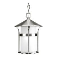 Progress Lighting Welcome 1 Light Outdoor Hanging Lantern in Stainless Steel P6506-135