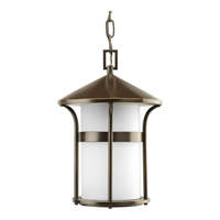 Progress Lighting Welcome 1 Light Outdoor Hanging in Antique Bronze P6506-20