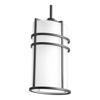 Format 1 Light 9 inch Black Outdoor Hanging Lantern