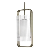 Coupe 1 Light 9 inch Brushed Nickel Outdoor Hanging Lantern