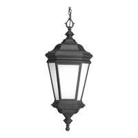 Progress Lighting Crawford 1 Light Outdoor Hanging Lantern in Black P6519-31