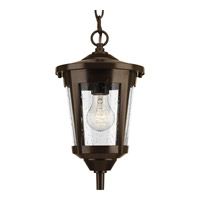 Progress Lighting East Haven 1 Light Outdoor Hanging Lantern in Antique Bronze with Clear Seeded Glass P6525-20