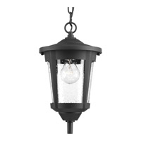 Progress Lighting East Haven 1 Light Outdoor Hanging Lantern in Black with Clear Seeded Glass P6525-31