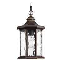 Progress Lighting Edition 1 Light Outdoor Hanging Lantern in Antique Bronze with Water Glass P6529-20