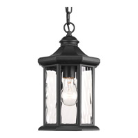 Progress Edition 1 Light Outdoor Hanging Lantern in Black P6529-31