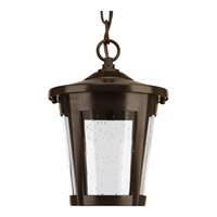 Progress Lighting East Haven 1 Light LED Outdoor Hanging Lantern in Antique Bronze with Clear Seeded Glass P6530-2030K9