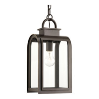 Progress Lighting Refuge 1 Light Outdoor Hanging Lantern in Oil Rubbed Bronze with Clear and Etched Umber Glass P6531-108