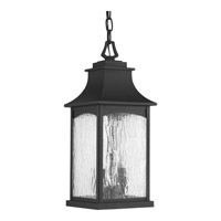 Progress P6532-31 Maison 2 Light 7 inch Black Outdoor Hanging Lantern