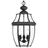 New Haven 3 Light 11 inch Black Outdoor Hanging Lantern