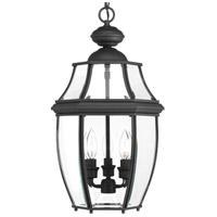 Progress P6533-31 New Haven 3 Light 11 inch Black Outdoor Hanging Lantern