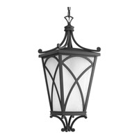 Progress Cadence 1 Light Outdoor Hanging Lantern in Black P6535-31