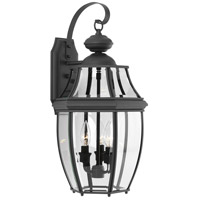 New Haven 3 Light 22 inch Black Outdoor Wall Lantern, Large
