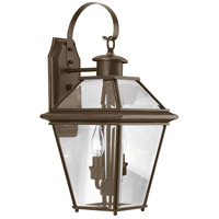 Progress P6616-20 Burlington 2 Light 19 inch Antique Bronze Outdoor Wall Lantern, Medium photo thumbnail