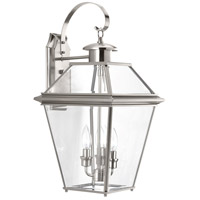 Burlington 3 Light 22 inch Brushed Nickel Outdoor Wall Lantern, Large