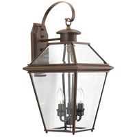 Burlington 3 Light 22 inch Antique Bronze Outdoor Wall Lantern, Large