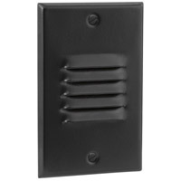 Signature 4 watt Black Step Light, Louvered
