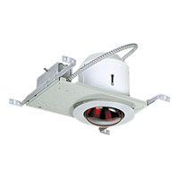 Progress Lighting Complete Round Housing & Trim 1 Light Recessed Set in Satin Aluminum P6952-16TG