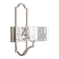 Caress 1 Light 8 inch Polished Nickel Wall Sconce Wall Light