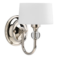 Progress Lighting Fortune 1 Light Wall Sconce in Polished Nickel P7049-104WB