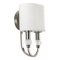 Progress Lighting Thomasville Splendid 2 Light Sconce in Brushed Nickel P7059-09