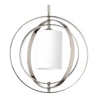 Progress Lighting Equinox 1 Light Foyer Pendant in Polished Nickel P7078-104