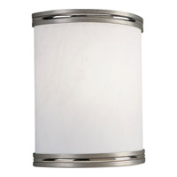 Compact Fluorescent Wall 1 Light 9 inch Brushed Nickel ADA Wall Sconce Wall Light