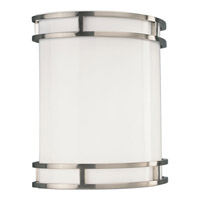 Progress Lighting Compact Fluorescent Wall 1 Light Wall Sconce in Brushed Nickel P7085-09EBWB