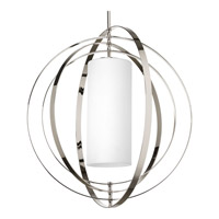 Equinox 2 Light 28 inch Polished Nickel Foyer Pendant Ceiling Light