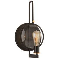 Looking Glass 1 Light 9 inch Antique Bronze and Natural Brass Wall Sconce Wall Light, Design Series