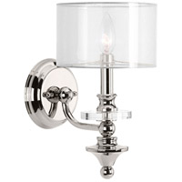 Marche 1 Light 7 inch Polished Nickel Wall Sconce Wall Light, Design Series