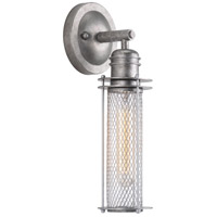 Progress P710014-141 Industrial 1 Light 5 inch Galvanized and Metallic Silver Wall Sconce Wall Light