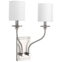 Bonita 2 Light 14 inch Brushed Nickel Wall Sconce Wall Light