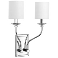 Bonita 2 Light 14 inch Polished Chrome Wall Sconce Wall Light