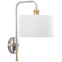 Progress P710034-009 Cordin 1 Light 10 inch Brushed Nickel Wall Sconce Wall Light, Design Series