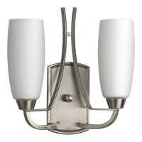 Progress Lighting Wisten 2 Light Wall Sconce in Brushed Nickel P7127-09 alternative photo thumbnail