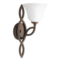 Progress P7167-102 Monogram 1 Light 7 inch Roasted Java Wall Sconce Wall Light