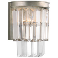 Glimmer 2 Light Silver Ridge Wall Sconce Wall Light, Design Series
