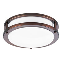 Acrylic Round 1 Light 10 inch Urban Bronze Flush Mount Ceiling Light in Circline Fluorescent